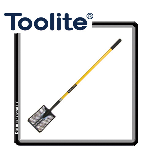 "Toolite Sifting Shovel Square Point 48/"" Wood Handle"