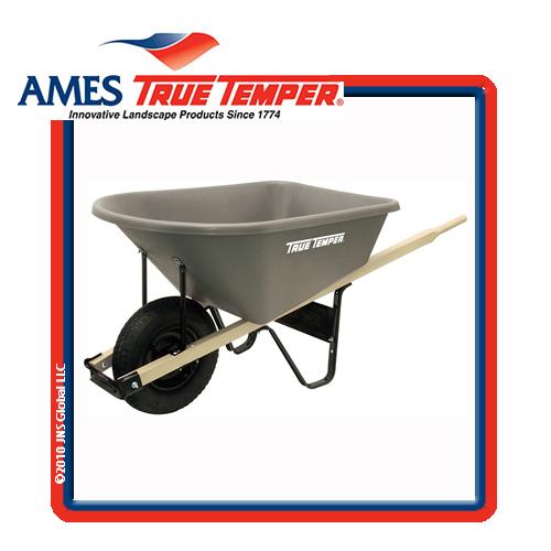 CP6 (24437) 6cuft Poly Wheelbarrow Kit By AMES TRUE TEMPER   [CP6 /  681784_BB]