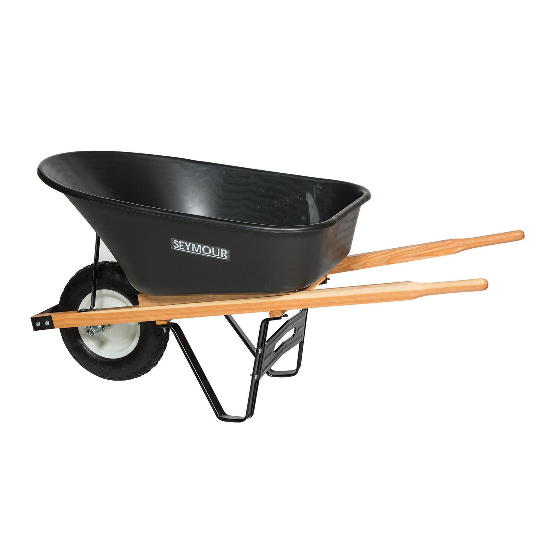 Roofing Shovels Seymour 6 Cu. Ft. Wheelbarrow, Poly Tray, Steel Wheel