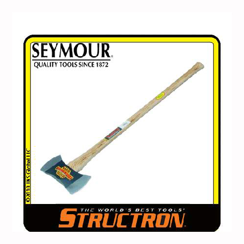 Structron Axe, Michigan Double Bit, 3-1/2 Lbs., 36 In. Fiberglass Handle